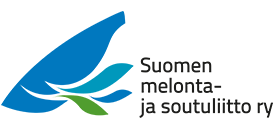 SUomen Melonta- ja soutuliiton logo kuvituskuva