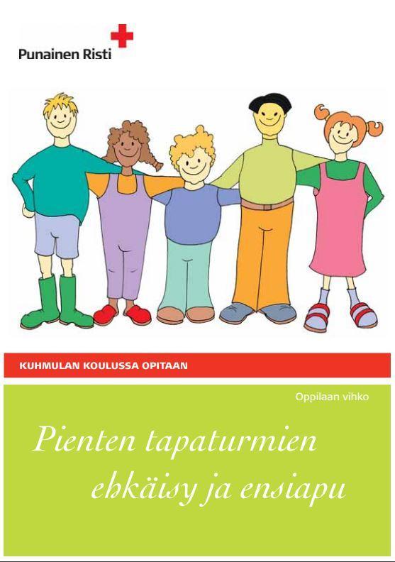 Suomen punaisen ristin oppilaan vihko kuvituskuva