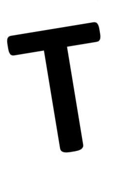 T-kirjain kuvituskuva